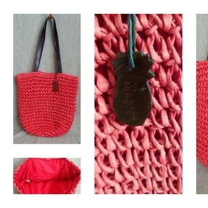 Magid Paper Straw Bucket Tote Bag Puse